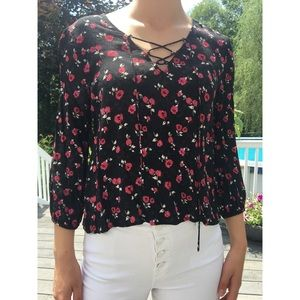 FOREVER 21 floral blouse